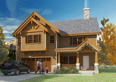 House Plans - a beautiful rustic feel comes with this traditional home; upstairs includes bedrooms and a huge loft area Aspen Lodge, Rustic Feel, South Wales, Western Australia, Traditional House, Home Design, Ideal Home, Custom Homes, House Plans