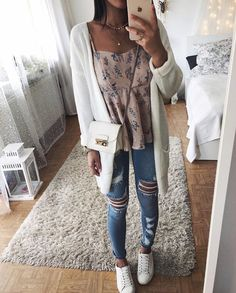 Summer fashion ideas for spring outfits oo inspire yourself - Fashion Fall College Outfits, Everyday Outfits, Spring Outfits, Winter Outfits, Look Fashion, Teen Fashion, Fashion Outfits, Spring Fashion, Tumblr Outfits