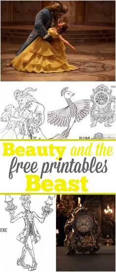 Beauty and the Beast free printables like coloring sheets and more. Perfect for a birthday party or just for fun! Disney printables are the best. via @thetypicalmom