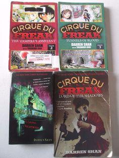 CIRQUE DU FREAK DARREN SHAN LOT OF 4 BOOKS GRAPHIC NOVELS PAPERBACKS #1 2 3 11