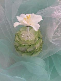 ELIXITA GREEN Centerpiece Wedding Decor Baby Shower Flowers Silk Christmas Gem #ELIXITA
