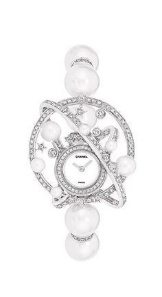 Chanel Watch Celeste with sea pearls and diamonds