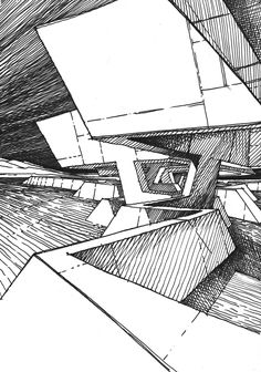 Mars architectures / drawing by stefan davidovici, architect - milan, italy Architecture Design, Architecture Panel, Architecture Drawings, Architecture Portfolio, Amazing Architecture, Rendering Techniques, Drawing Techniques, Urban Sketching, Sketch Design