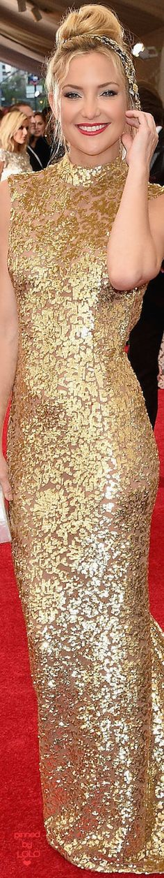 Kate Hudson in Michael Kors 2015 MET Gala | LOLO❤︎
