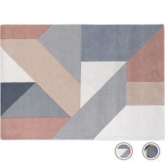 Holden Large Geometric Hand Tufted Wool Rug 160 x 230cm, Neutral Pink from Made.com. NEW Almost like a puzzle, these pleasing shapes go together to ..