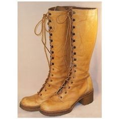 lace up boots from the 70's - you wore these with prairie skirts