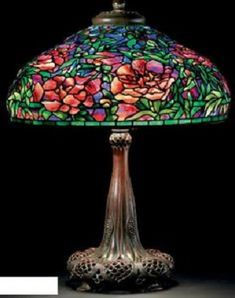 original Tiffany lamp with copper base