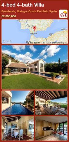 4-bed 4-bath Villa in Benahavis, Malaga (Costa Del Sol), Spain ►€2,095,000 #PropertyForSaleInSpain