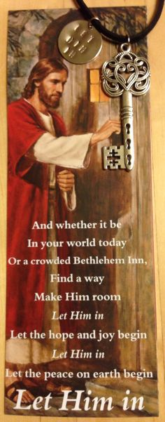 """""""Let Him In"""" Key Necklace - great and inexpensive Christmas gift (perfect for YW's!)"""
