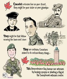 Remembrance Day Canadian Veterans - ❈ www.pinterest.com/WhoLoves/Rememberance-Day ❈ #RememberanceDay #Armistice Day #PoppyDay #111111