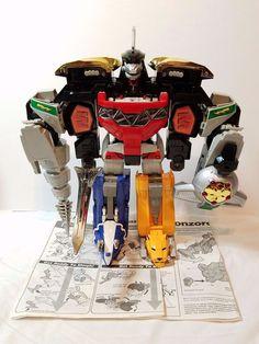 Original Power Rangers Megazord Zord Dragonzord 1993 Bandai Transformer Robot…
