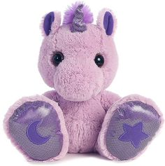 Skywriter Unicorn (Purple) Taddle Toes Stuffed Animal by Aurora (Front View)