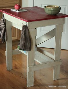 Dumpster Dive kitchen Island--You have to see the before!! http://bec4-beyondthepicketfence.blogspot.com/2012/10/dumpster-diving-minus-dumpster.html