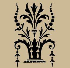 Stencil Victorian Ornament No 38 10x6.5 Inches by ArtisticStencils