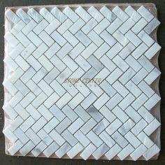 5/8 x 1 1/4 Herringbone Polished Italian Calacatta Gold Marble Mosaic Tile on eBay!