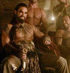 Jason Momoa as Khal Drogo, Game of Thrones