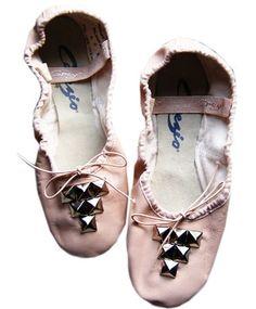 Studded Ballet Slippers