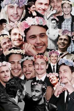 James Franco wearing floral crowns. Life doesn't get much better than this folks.