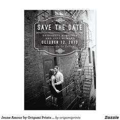 Jeune Amour by Origami Prints Save the Date Card