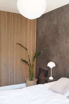 Dark Room Colors and Vibrant Wall Paint Changing Interior Dimensions Visually Wood Slat Wall, Wood Slats, Wood Slat Ceiling, Home Bedroom, Bedroom Wall, Bedroom Decor, Modern Interior Design, Interior And Exterior, Interior Wood Paneling