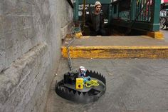 OMG this is hysterical. Apparently 'hipster traps' are being set up around NYC!. I'm assuming they aren't real traps but they are pretty funny. :)