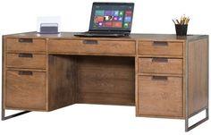 Modern Computer Desk Drawer Storage Credenza Wood Brown Finish Furniture New #Doesnotapply #Modern #Desk #Drawer #Storage #Furniture