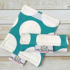 Polka Dot Canvas Fabric Luggage Handle Wrap by LittleMissPoBean