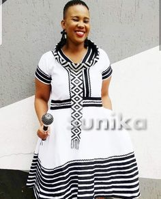 - Modern Xhosa Traditional Dresses Latest Designs – Sunika Traditional African Clothes Source by solomonzwide - Long African Dresses, Latest African Fashion Dresses, African Print Dresses, African Print Clothing, African Print Fashion, African Clothes, African Prints, Zulu Traditional Attire, Traditional African Clothing