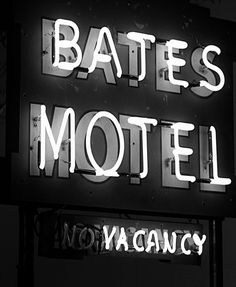 Psycho (1960, dir. Alfred Hitchcock)  The magic of the movies, a quite boring motel name yet it conjures up the fears and tension of an iconic movie.