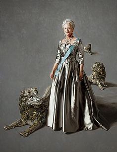 Hendes Majestæt Dronning Margrethe II by Michael Melbye
