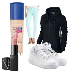 Untitled #26 by hannah-s-b on Polyvore featuring polyvore, fashion, style, NIKE, 7 For All Mankind, NARS Cosmetics, Rimmel and clothing