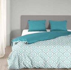 Home Style Dekbedovertrek 4501 Chambre aqua blauw