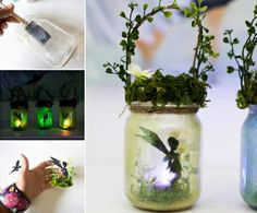 These Fairy Jar Lanterns are gorgeous and they are very easy to make and you are going to love the ambience they create. We have a video tutorial too. Fairy Lanterns, Fairy Lights, Mason Jar Crafts, Mason Jars, Hyacinth Flowers, Fairy Jars, Jar Art, Baby Food Jars, Diy Home Decor Projects