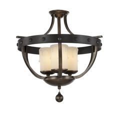 Alsace Candle Semi Flush Mount | Savoy House at Lightology