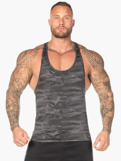Staple Pieces, Physique, Camo, Tank Man, Quick Dry, Model, Mens Tops, How To Wear, Leaves