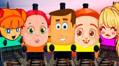 CARTOONS TRAINS SONG | FINGER FAMILY RHYMES | TRAINS FOR KIDS