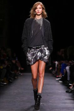 Isabel Marant Ready To Wear Fall Winter 2014 Paris - love the scarf-like necklace