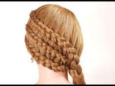 Прическа с плетением на длинные волосы. Braided hairstyle for long hair