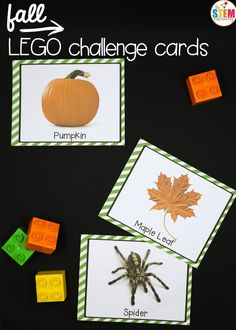 Fall LEGO Challenge Cards - The Stem Laboratory
