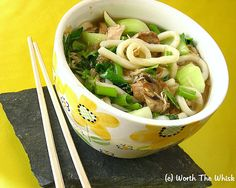 Yummy Noodle Bowl for two...with or without meat or tofu.   Another quick and easy meal.