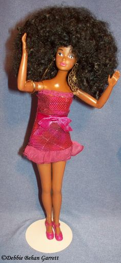 1990s Barbie with boil perm Afro