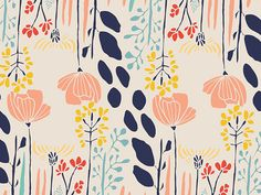 Leah Duncan's cotton print collection 'Meadow' - Summer Grove By Day | buy in-store and online at Ray Stitch
