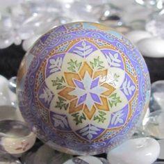 Beautiful Ukrainian Pysanky Egg by Katrina Lazarev. muted colors - nice.
