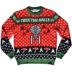 Star Trek: The Original Series Trek The Halls Holiday Knit Sweater Making Ugly Christmas Sweaters, Knitted Christmas Jumpers, Christmas Knitting, Christmas Clothes, Ugly Sweater Party, Holiday Sweater, Star Trek Christmas, Cozy Christmas, Christmas Ideas