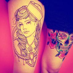 <3 AMAZING Thigh Tattoo <3