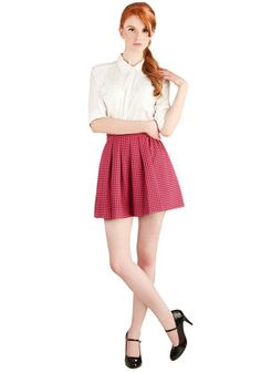 Pleats and Punch Skirt, #ModCloth
