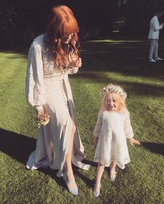 Florence Welch at Chris and Mairead's Wedding today