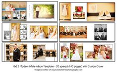 MODERN WHITE  8x12 Digital Wedding Album by KatieAnnDesigns, $50.00