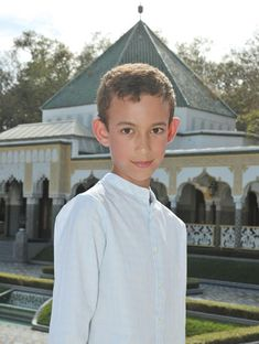 His Royal Highness Crown Prince Moulay Hassan of Morocco.  Prince Moulay Hassan, born 8 May 2003,  is the current heir apparent to the Moroccan throne. He is the oldest child of King Mohammed VI of Morocco and his wife Princess Lalla Salma of Morocco.