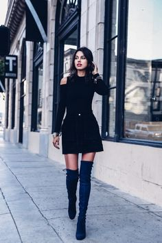 4 SHOE STYLES TO BUY THIS FALL: Over The Knee Suede boots